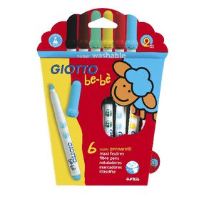 Giotto Be-Be Super Fibre Pens 6 Pack