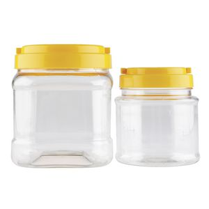 Educational Colours Screw Cap Jars Clear 1.5L