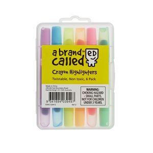 Crayon Highlighters 6pk