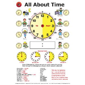 Learning Can Be Fun Wall Chart All About Time