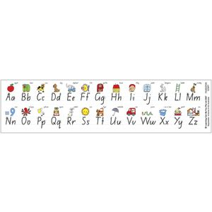 Learning Can Be Fun NSW Foundation Script Desk Strips 30 Pack