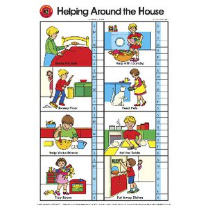 Learning Can Be Fun Wall Chart Helping Around the House