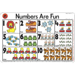 Learning Can Be Fun Desk Mat Numbers Are Fun