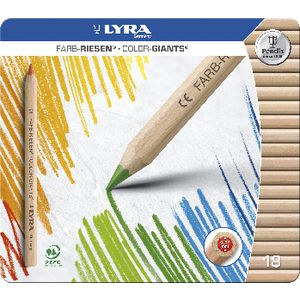 Lyra Colour-Giants Coloured Pencils 18 Pack