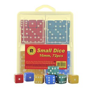 Learning Can Be Fun Small Dice 16mm 72 Pack