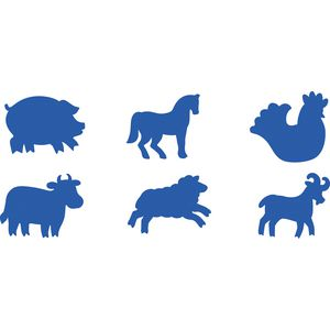 Educational Colours Paint Stampers Farm Animals 6 Pack