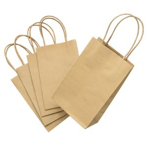 ELC Gift Bags with Handles Kraft 5 Pack