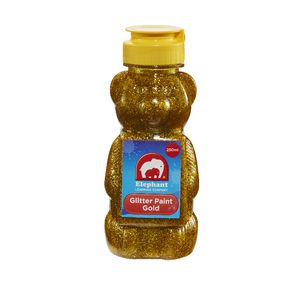 ELC Teddy Bear Glitter Paint Gold 250mL