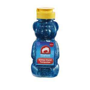 ELC Teddy Bear Glitter Paint Turquoise 250mL