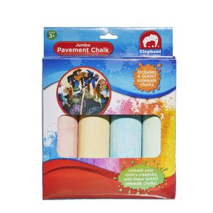 ELC Jumbo Pavement Chalk 4 Pack