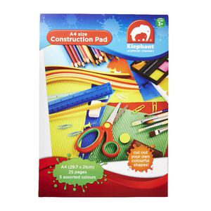 ELC A4 3 in 1 Construction Pad Assorted Colours 25 Sheets