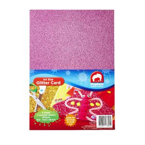 ELC A4 Glitter Card Assorted 8 Pack