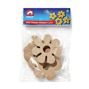 ELC MDF Flower Shapes 4 Pack