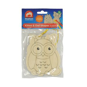 Elephant Learning Company Kitten And Owl Shapes 2 Pack