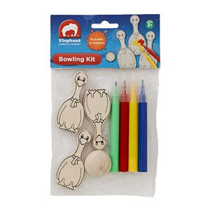 ELC Wooden Bowling Kit with Markers