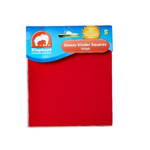 ELC Kinder Squares 125 x 125mm Glossy 100 Pack