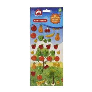 ELC Fun Stickers Glitter Puffy Orchard 36 Pack
