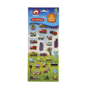 ELC Fun Stickers Puffy Transport 30 Pack