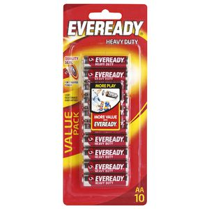 Eveready Heavy Duty AA Batteries 10 Pack