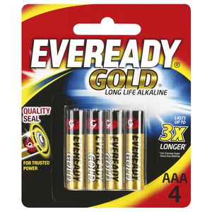 Eveready Gold AAA Batteries 4 Pack