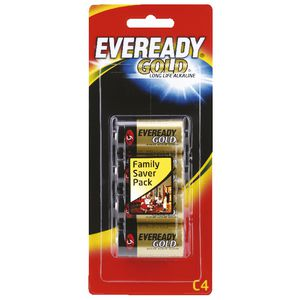 Eveready Gold C Batteries 4 Pack