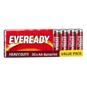 Eveready Heavy Duty AA Batteries 30 Pack