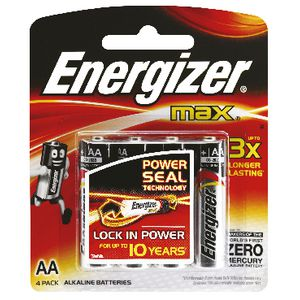 Energizer AA Batteries Pk/4