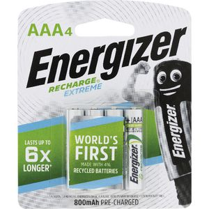 Energizer Rechargeable AAA Batteries 4 Pack