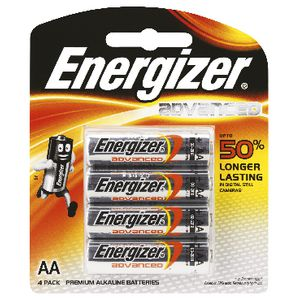 Energizer Advanced AA Batteries 4 Pack