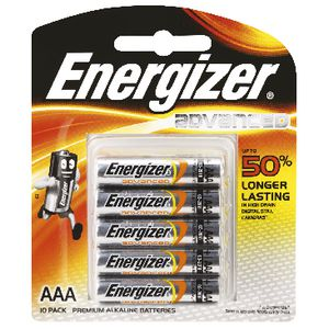 Energizer Advanced AAA Batteries 10 Pack