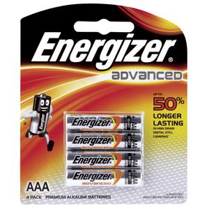 Energizer Advanced AAA Batteries 4 Pack