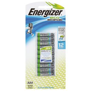 Energizer Eco Advanced AAA Batteries 10 Pack