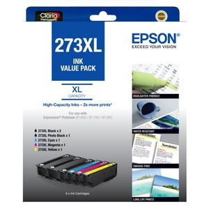 Epson 273XL Black and Colour Ink Cartridge Value Pack