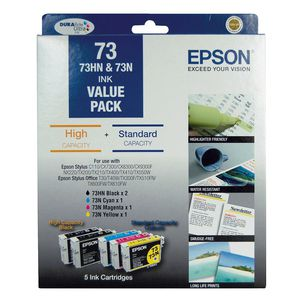 Epson 73 Ink Cartridge High Capacity Value Pack