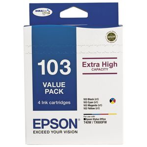 Epson 103 High Capacity Ink Cartridge Value Pack