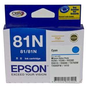 Epson 81N High Capacity Ink Cartridge Cyan