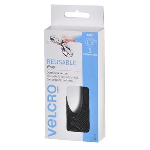 VELCRO® Brand Adjustable Black Wrap