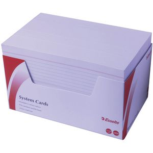 Esselte 127 mm x 203 mm System Cards  White 500 Pack