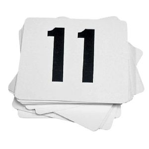 Esselte Table Numbers 11-20 White