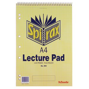 Spirax A4 No. 905 Lecture Pad 140 Page