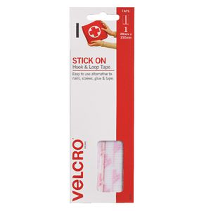 VELCRO® Brand White Hook & Loop Strips 20mm x 150mm
