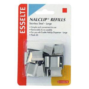 Esselte NalClip Refills Large Steel Pk/25