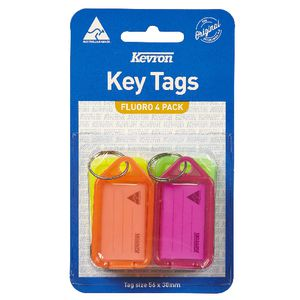 Kevron ID38 Fluoro Key Tags 4 Pack
