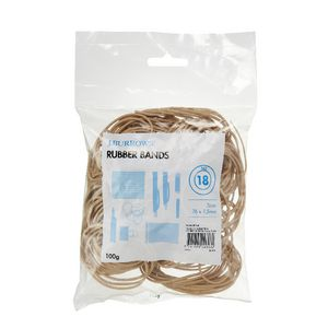 J.Burrows Size 18 Rubber Bands 100g
