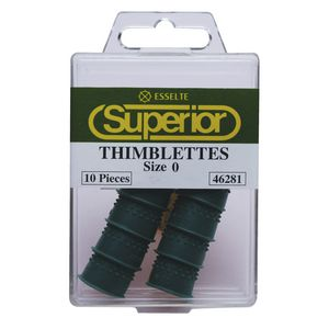 Esselte Superior Size 0 Thimblettes Green 10 Pack