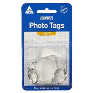Kevron DIY Square Photo Key Tags 2 Pack