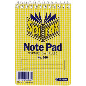 Spirax No. 560 Pocket Note Pad 96 Page 5 Pack
