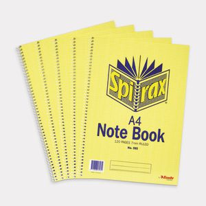 Spirax A4 Notebook 120 Pages 5 Pack