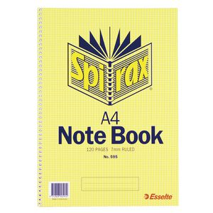 Spirax A4 Notebook 120 Page