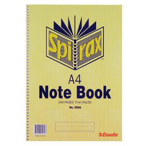 Spirax A4 Notebook 240 Pages